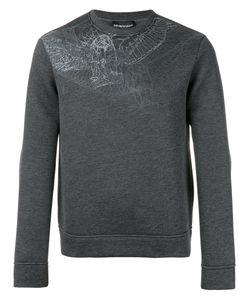 Emporio Armani   Sketch Print Sweatshirt Xl Modal