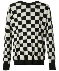 Marc Jacobs | Checke Distressed Knit Jumper Medium Wool