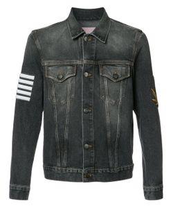 PALM ANGELS   Striped Print Denim Jacket