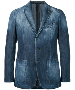 Lardini | Washed Denim Jacket 52