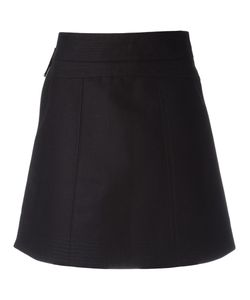 Diesel Black Gold | Side Zip A-Line Skirt 42 Cotton
