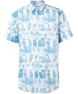 Kinfolk | Allover Print Shortsleeved Shirt Small Cotton