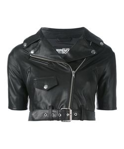Jeremy Scott | Shortsleeved Cropped Biker Jacket 40 Sheep