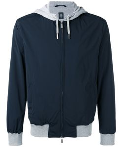 Eleventy   Contrast Hooded Jacket Size Xl