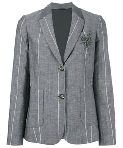 Brunello Cucinelli | Stoned Pin Striped Blazer 40 Virgin