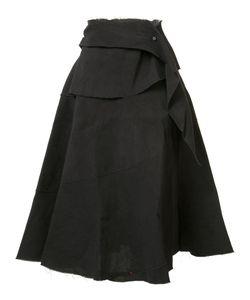 MA+ | Draped A-Line Skirt 42 Cotton/Paper