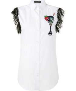Dolce & Gabbana | Sleeveless Embroide Shirt 38 Cotton/Polyamide/Viscose/Silk