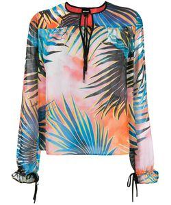 Just Cavalli | Tropical Print Blouse 38 Silk/Viscose