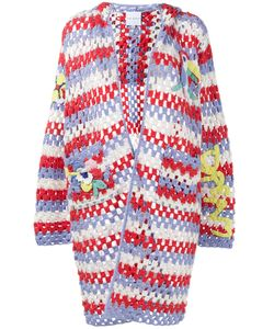 Mira Mikati | Crochet Hooded Cardigan 40 Wool/Acrylic/Cotton