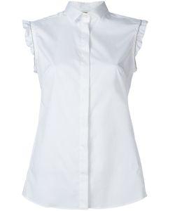 Fay | Ruffle Sleeve Blouse Small Cotton/Spandex/Elastane