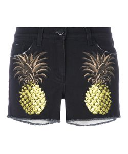 GIAMBA | Pineapple Shorts 42 Cotton/Spandex/Elastane/Leather
