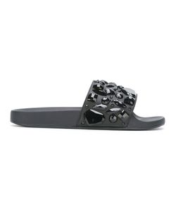 Marc Jacobs | Embellished Sliders 38 Calf Leather/Leather/Rubber/Plastic