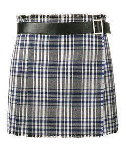 Alexander McQueen | Mini Check Kilt Skirt Calf