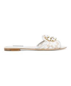 Dolce & Gabbana | Сандалии На Плоской Подошве Bianca