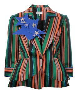 Delpozo | Peaked Lapels Striped Blazer 40 Silk/Polyester/Viscose