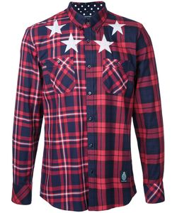 GUILD PRIME | Stars Print Checked Shirt Size 2