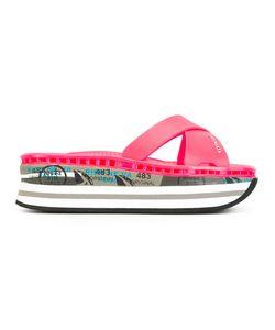 PREMIATA WHITE | Moura Platform Sandals 39