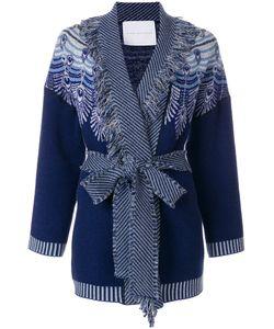 Giada Benincasa | Pattern Knit Tie Waist Cardi-Coat Women