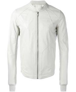 Rick Owens | Intarsia Jacket 52 Calf Leather/Cupro/Cotton