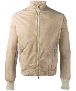 Giorgio Brato | Zip Up Jacket 46 Cotton/Leather/Nylon