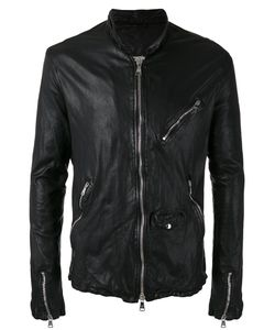 Giorgio Brato | Zip Up Jacket 54 Leather/Nylon/Linen/Flax/Cotton