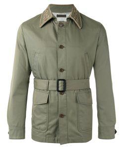 Alexander McQueen | Embroide Collar Jacket 46 Cotton/Plastic/Glass/Viscose