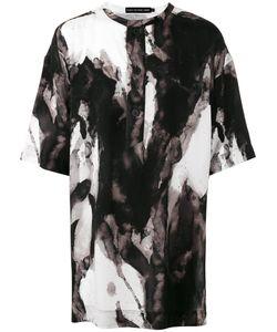 Issey Miyake   Abstract Print Oversized T-Shirt