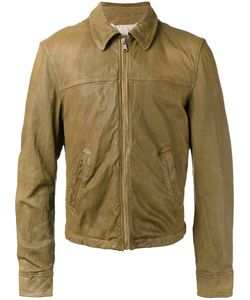 Pihakapi | Slogan Leather Jacket Medium Lamb Skin/Cotton/Polyamide