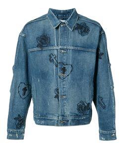 Mr. Completely | Джинсовая Куртка С Вышитыми Розами