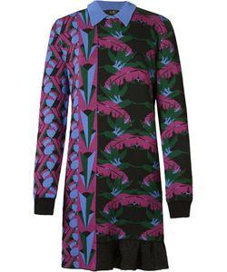 Gig | Foliage Pattern Knit Dress P Polyamide