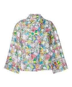 Ultràchic | Garbage Print Cropped Jacket