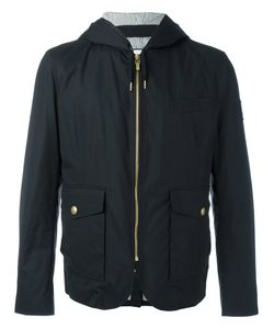 Moncler Gamme Bleu | Hooded Quilted Jacket 4 Cotton/Cupro/Feather