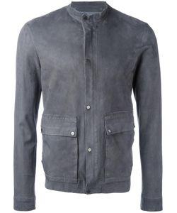 SALVATORE SANTORO | Buttoned Leather Jacket 48 Leather/Cotton
