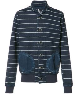 Prps | High Neck Striped Cardigan Large Cotton