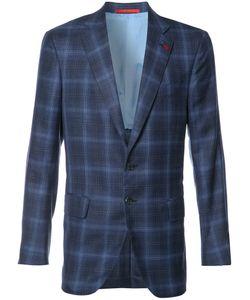 Isaia   Checked Blazer 58 Cupro/Silk/Linen/Flax/Wool