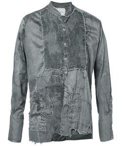 GREG LAUREN   Рубашка С Необработанными Краями