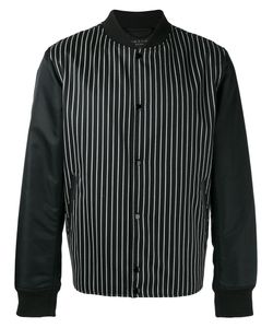 Rag & Bone | Striped Bomber Jacket Size Large Wool/Cotton/Calf