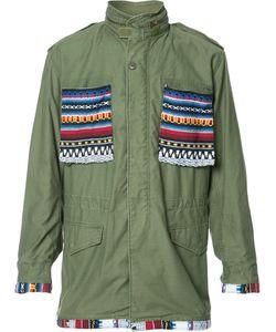 HTC Hollywood Trading Company | Aztec Details Cargo Jacket Medium
