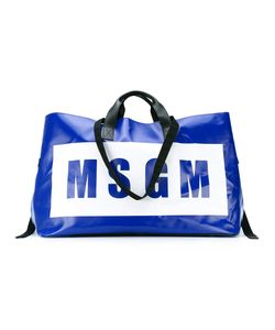 MSGM | Oversized Logo Print Tote