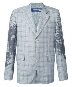 JUNYA WATANABE COMME DES GARCONS | Junya Watanabe Comme Des Garçons Man Printed Sleeve Check Blazer