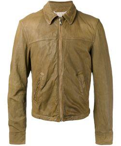 Pihakapi | Slogan Leather Jacket Size Medium