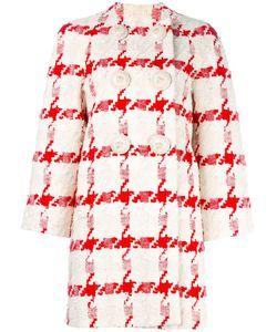 Alexander McQueen | Houndstooth Bouclé Coat 40 Silk/Cotton/Linen/Flax/Cupro