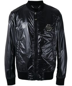 Philipp Plein | Logo Plaque Bomber Jacket Size Medium