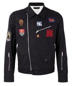 Alexander McQueen   Embroidered Biker Jacket Size 52