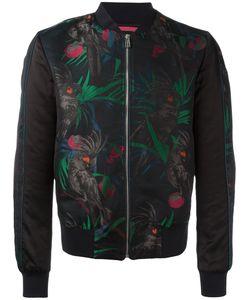 Paul Smith Jeans | Parrot Jacquard Bomber Jacket Small Cotton/Nylon