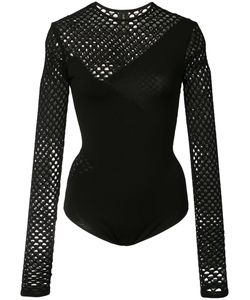 Alexandre Vauthier | Fishnet Long Sleeve Bodysuit