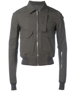 Rick Owens | Oblong Collar Jacket 48 Cotton/Rubber/Cupro