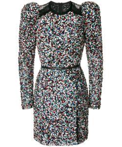 Elie Saab | Платье С Пайетками Кружевом И Объемными Плечами
