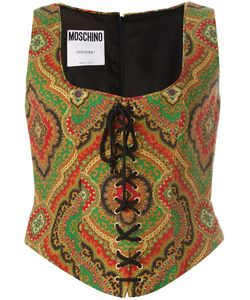 MOSCHINO VINTAGE   Paisley Print Bustier 46