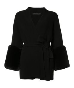 SALLY LAPOINTE | Belted Cardigan Small Wool/Cashmere/Rabbit Fur